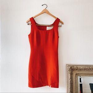 Vintage Hugo Buscati Red Silk Sexy Mini Dress